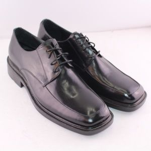Pure Stuff Jet Black Leather Oxford Dress shoes